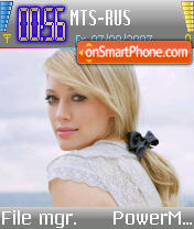 Hilary Duff v7 es el tema de pantalla
