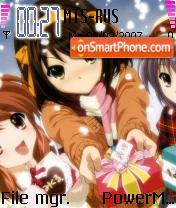Haruhi Suzumiya theme screenshot