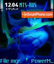 Devushka Neon Zplus tema screenshot