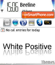 White Positive Simple es el tema de pantalla