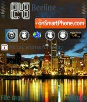 Скриншот темы Night City