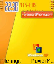 Xp Orange theme screenshot