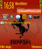 Ferrari Red es el tema de pantalla