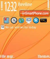 Orange Basic es el tema de pantalla