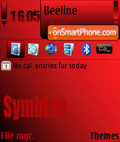 Symbian Dark Rubine theme screenshot