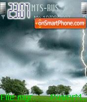 Скриншот темы Animated Storm