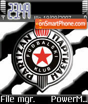 Partizan fc theme screenshot