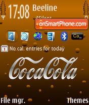 Скриншот темы Coca Cola Default
