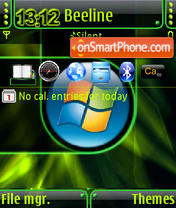 Green Vista QVGA theme screenshot