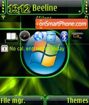 Скриншот темы Green Vista QVGA