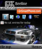 Nissan Skyline GTR 02 theme screenshot