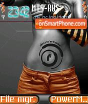 Dnb Gerl tema screenshot