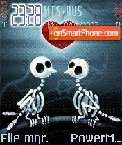 Animated Skeletons Kiss theme screenshot