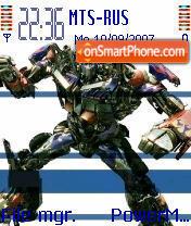 Optimus Prime theme screenshot