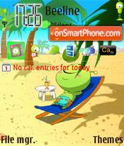 Alien On Beach es el tema de pantalla