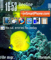 Yelow Fishes theme screenshot