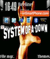 Capture d'écran System Of A Down 01 thème