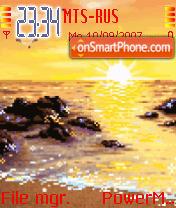 Animated Sunset 04 es el tema de pantalla