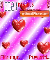Hearts Storm Animated theme screenshot