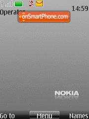 Nokia Grey theme screenshot
