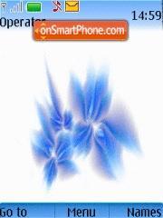 Blue 3d Flower theme screenshot