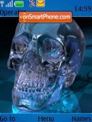 Скриншот темы Blue Skull 01