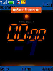 Скриншот темы Digi Flash Clock
