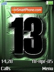 13 Theme es el tema de pantalla