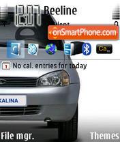 Скриншот темы Lada Kalina Grey 1119