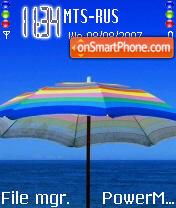 Cute Umbrella es el tema de pantalla