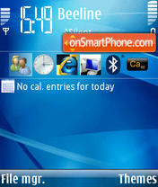 Windows Mobile Blue theme screenshot