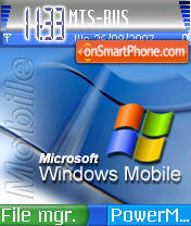 Windows Mobile theme screenshot