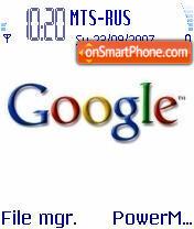 Google theme screenshot