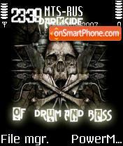 Darkside of dnb tema screenshot