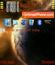 Скриншот темы Planet 01