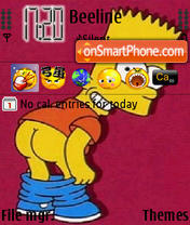 Bart Simpson 01 theme screenshot