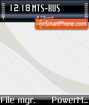 White Macos v2 theme screenshot