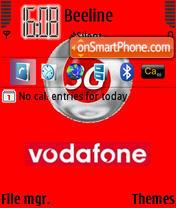 Vodafone 3G theme screenshot