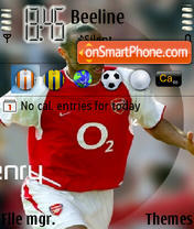 Thierry Henry theme screenshot