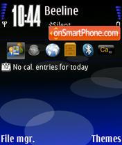 Nokia Blue theme screenshot