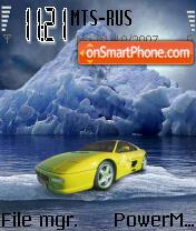 Ferrari On The Rocks 01 es el tema de pantalla