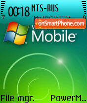 Windows Mobile 2008 theme screenshot