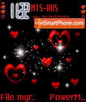 Hearts Animated theme screenshot