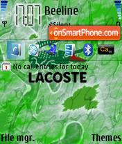 Скриншот темы Lacoste 01