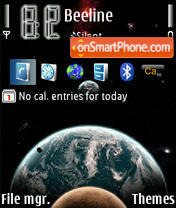Space 01 tema screenshot