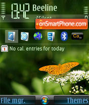 Batterfly 01 theme screenshot