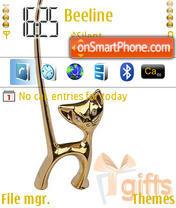 Gold Cat theme screenshot