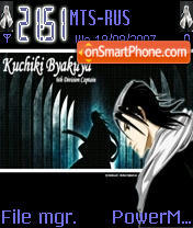 Byakuya Kuchiki theme screenshot