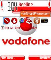 Vodafone theme screenshot