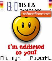 Addicted To U es el tema de pantalla